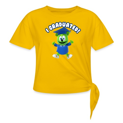 I Graduated! Gummibar (The Gummy Bear) - Women's Knotted T-Shirt