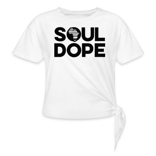 souldope Black Logo - Women's Knotted T-Shirt