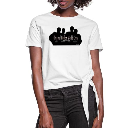Harlem World Crew the4 - Women's Knotted T-Shirt