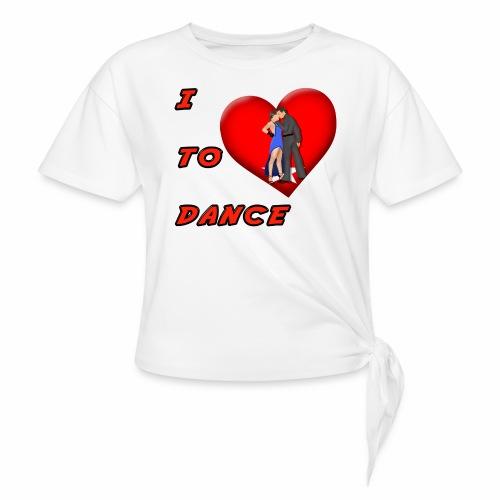 I Heart Dance - Women's Knotted T-Shirt