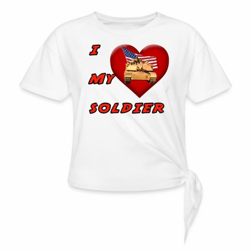 I Heart my Soldier - Women's Knotted T-Shirt