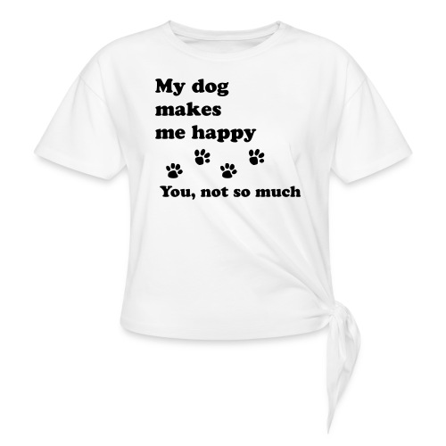 love dog 2 - Women's Knotted T-Shirt