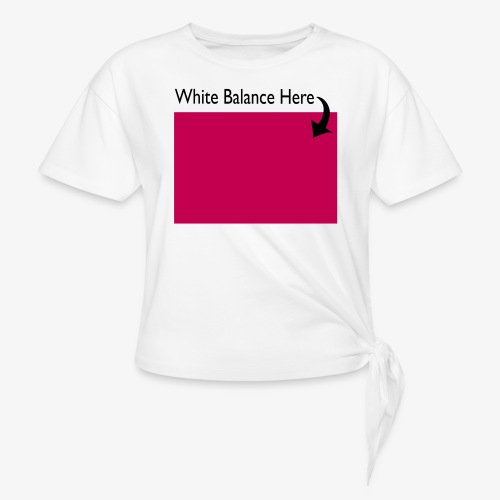 White Balance - Women's Knotted T-Shirt
