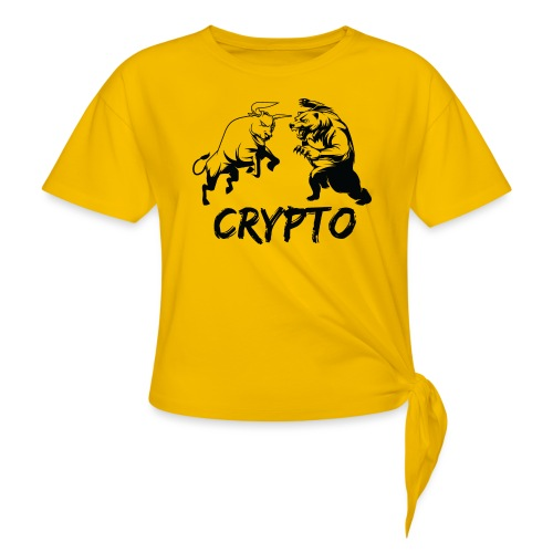CryptoBattle Black - Women's Knotted T-Shirt