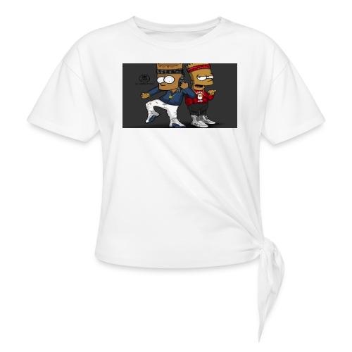 Sweatshirt - Women's Knotted T-Shirt