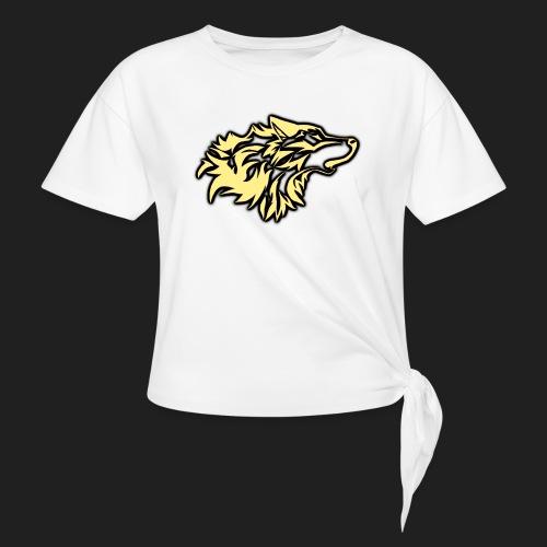 wolfepacklogobeige png - Women's Knotted T-Shirt