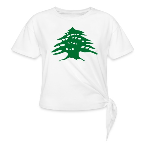 Lebanese Pride Shirt - Women's Knotted T-Shirt