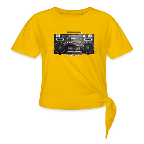Helix HX 4700 Boombox Magazine T-Shirt - Women's Knotted T-Shirt