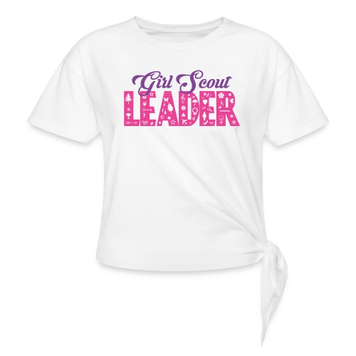 Girl Scout Leader - Women's Knotted T-Shirt