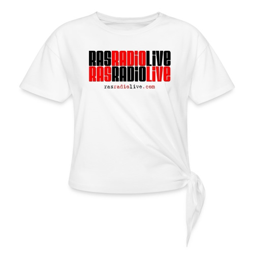 rasradiolive png - Women's Knotted T-Shirt