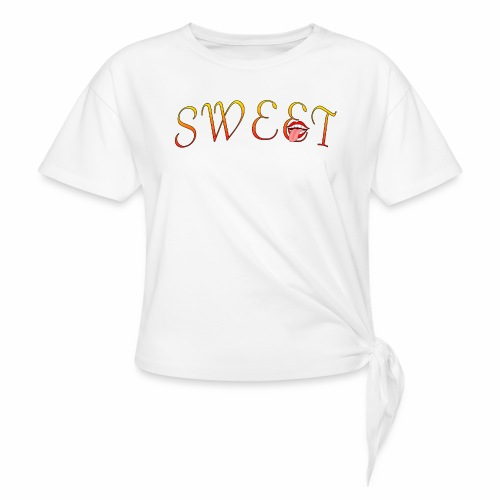 Sweet - Women's Knotted T-Shirt