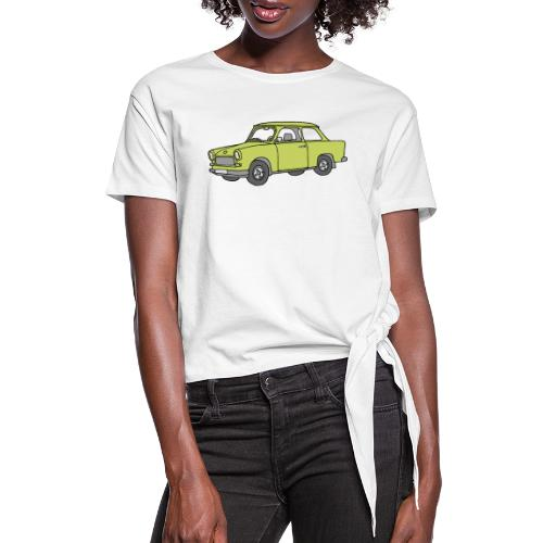 Trabant (baligreen car) - Women's Knotted T-Shirt
