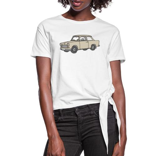 Trabant (papyrus car) - Women's Knotted T-Shirt