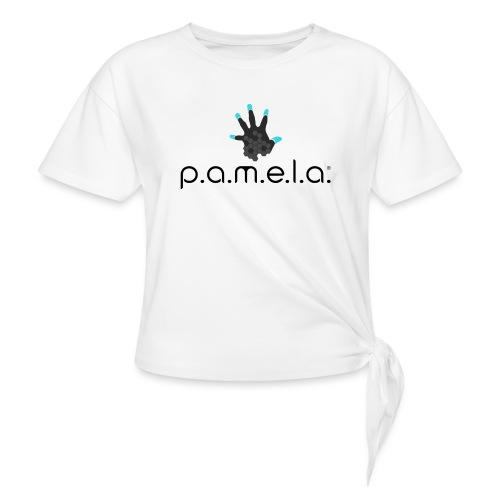 P.A.M.E.L.A. Logo Black - Women's Knotted T-Shirt