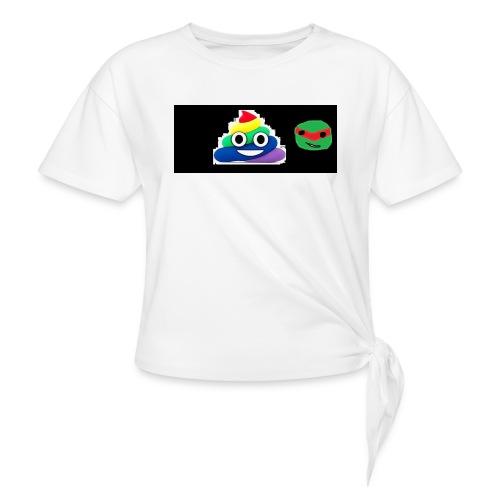 ninja poop - Women's Knotted T-Shirt
