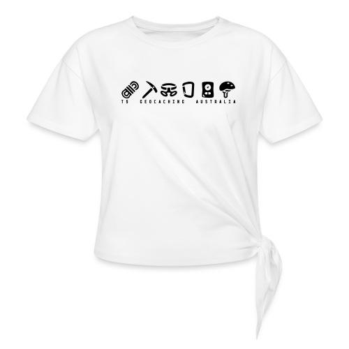 T5 Geocaching Australia - Women's Knotted T-Shirt