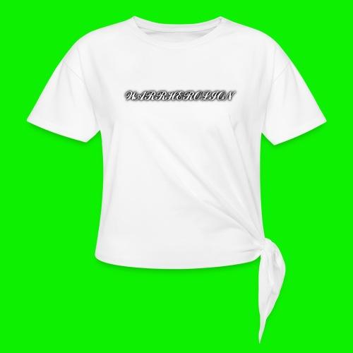 Warherolion plane text-gray - Women's Knotted T-Shirt