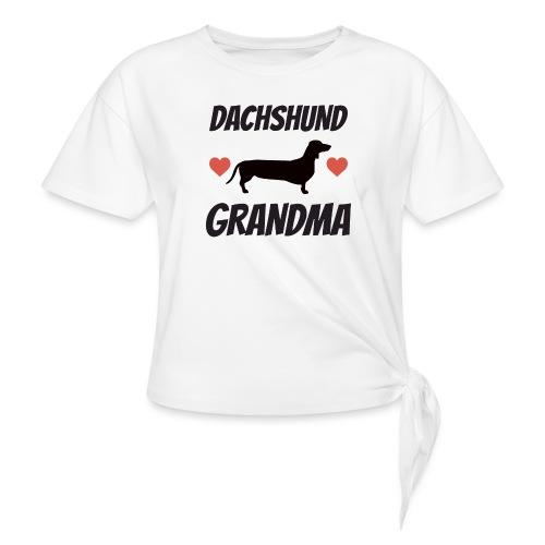 Dachshund Grandma - Women's Knotted T-Shirt
