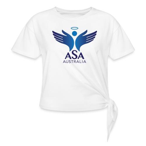 3459 Angelman Logo AUSTRALIA FA CMYK - Women's Knotted T-Shirt