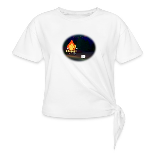 'Round the Campfire - Women's Knotted T-Shirt