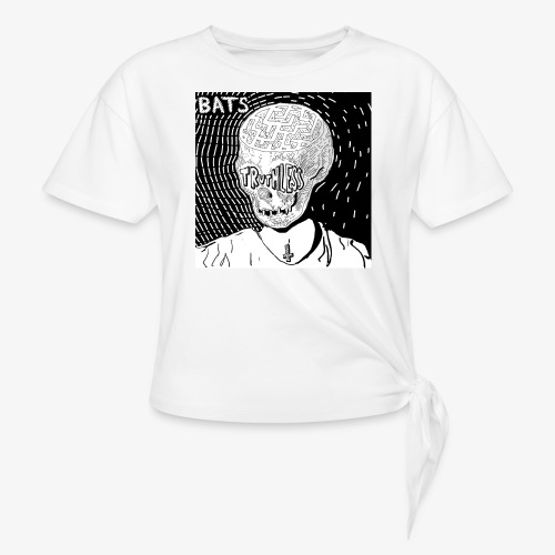BATS TRUTHLESS DESIGN BY HAMZART - Women's Knotted T-Shirt
