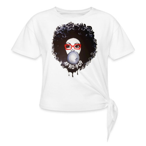 Afro pop_ - Women's Knotted T-Shirt