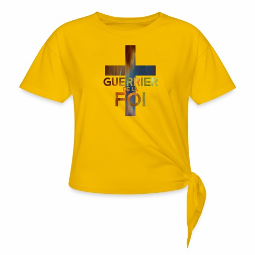 WARRIOR OF FAITH - Women's Knotted T-Shirt