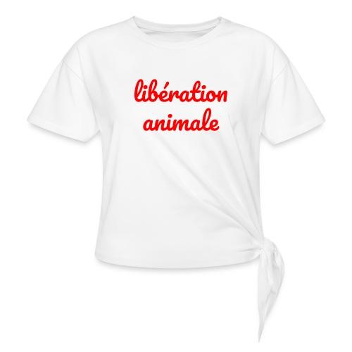 Liberation Animale - Women's Knotted T-Shirt