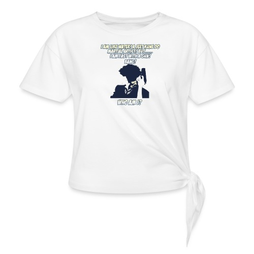 AnimeBusters Guess Who Series- Spike - CowboyBebop - Women's Knotted T-Shirt