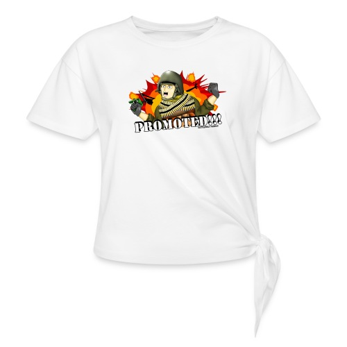 Promoted! Hank & Jed - Women's Knotted T-Shirt