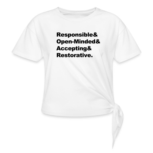 ROAR Helvetica - Women's Knotted T-Shirt