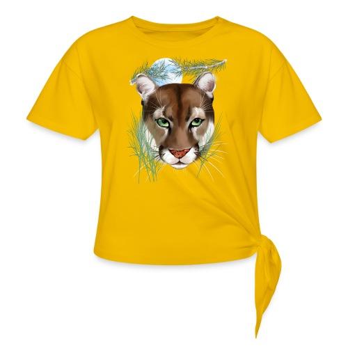 Midnight Puma - Women's Knotted T-Shirt