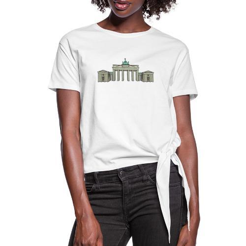 Brandenburg Gate Berlin - Women's Knotted T-Shirt