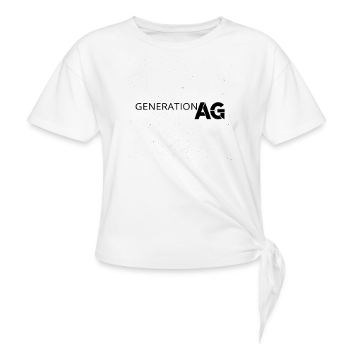 Generation Ag Black - Women's Knotted T-Shirt