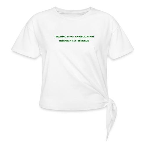Teaching - Women's Knotted T-Shirt
