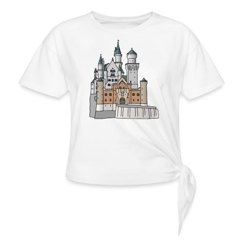 Neuschwanstein Castle, Bavaria - Women's Knotted T-Shirt