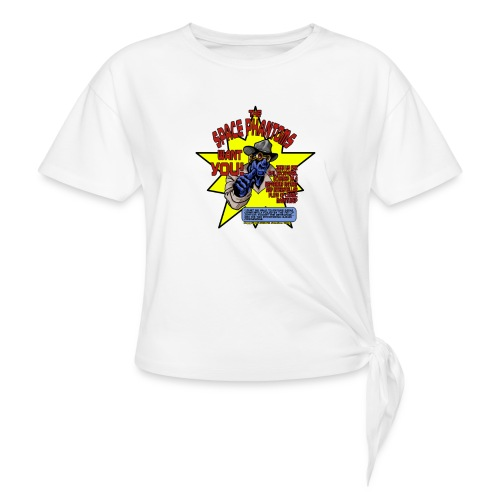 Space Phantom - Women's Knotted T-Shirt