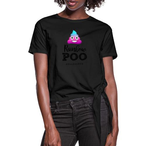 Rainbow Poo - Women's Knotted T-Shirt