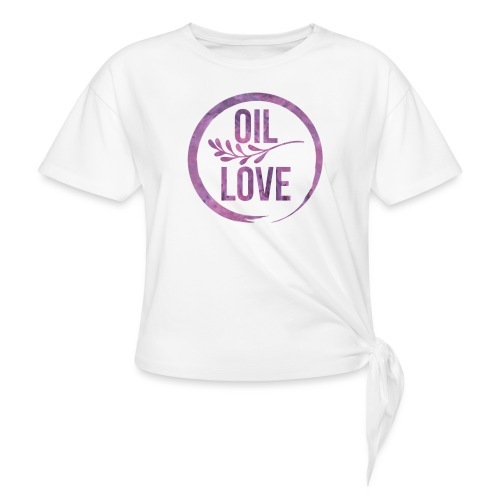 Oil Love Purple - Women's Knotted T-Shirt