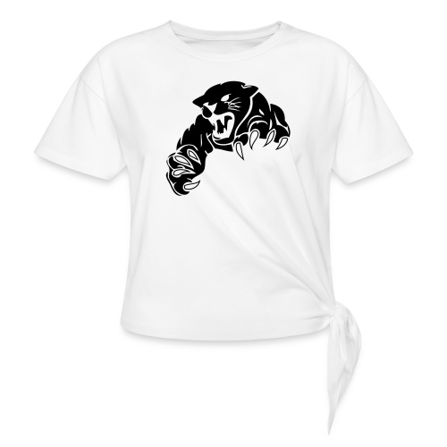 panther custom team graphic - Women's Knotted T-Shirt