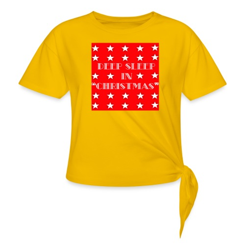 Christmas theme - Women's Knotted T-Shirt