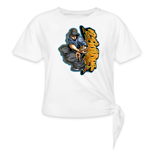 Cholo Hands by RollinLow - Women's Knotted T-Shirt