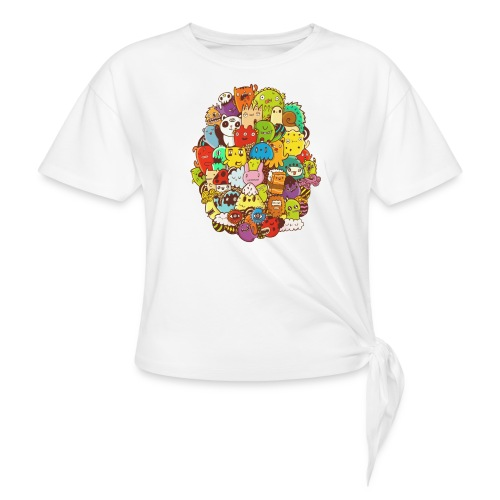 Doodle for a poodle - Women's Knotted T-Shirt