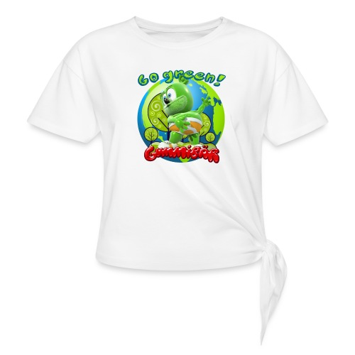 Gummibär Go Green Earth Day Earth - Women's Knotted T-Shirt