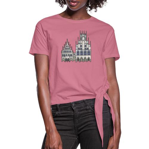 Town Hall Münster, Cityhall, Mayor - Women's Knotted T-Shirt
