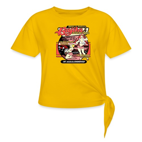 Bajita Lowrider by RollinLow - Women's Knotted T-Shirt