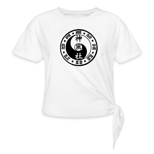 SWC LOGO BLACK - Women's Knotted T-Shirt