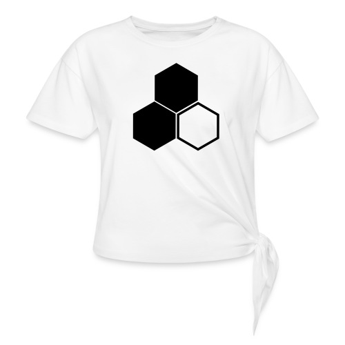 F3 Invisible Woman Logo - Women's Knotted T-Shirt
