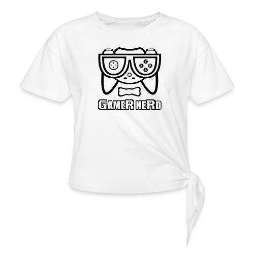 Nerds - Gamer Nerd - Women's Knotted T-Shirt