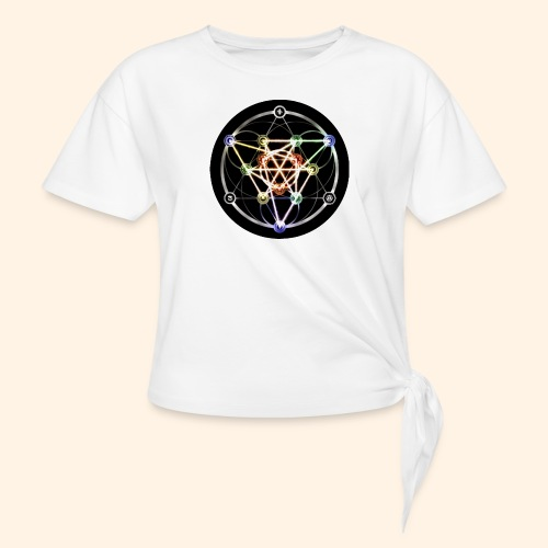 Classic Alchemical Cycle - Women's Knotted T-Shirt